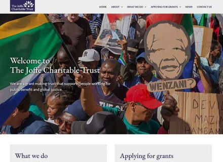 Joffe Charitable Trust website by Crouch End Media