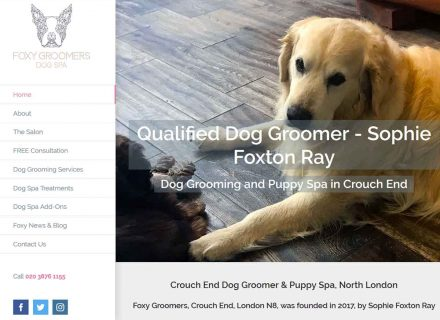 Foxy Groomers website Crouch End Media